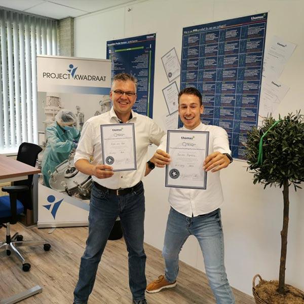 TEIQue certificaten binnen